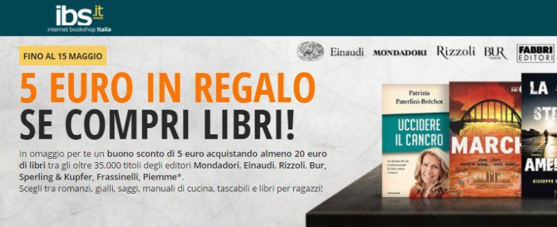 Codice sconto 5 euro ibs for Coupon libri amazon