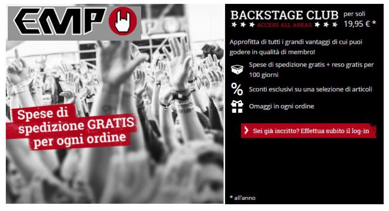 4ac97c220ee356 Backstage Club EMP: Coupon Sconto 50% | Buonosconto.it