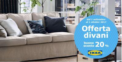 IKEA Buono Acquisto 20% Divani | Buonosconto.it