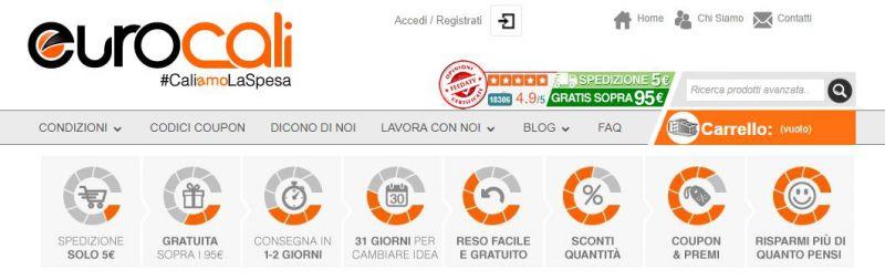 Coupon eurocali e sconti for Sconti coupon amazon