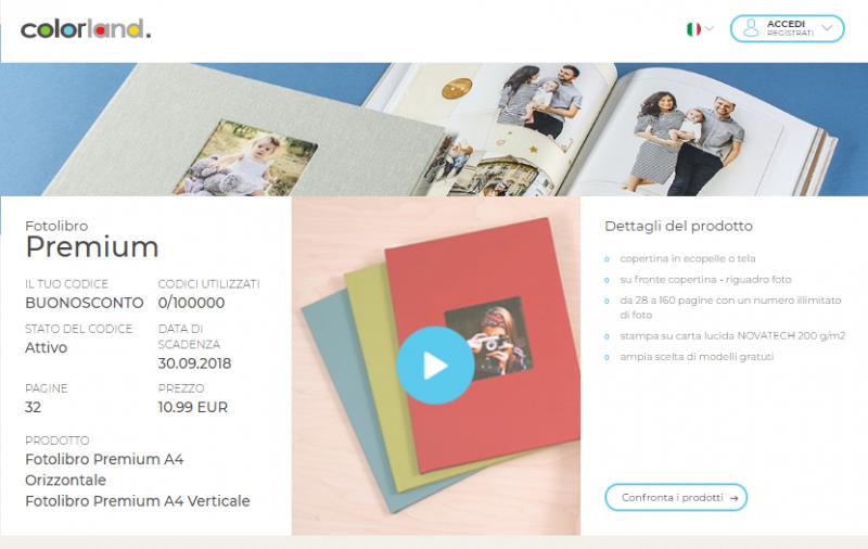 7781e17da1 Fotolibro Premium Colorland Scontato del 75% | Buonosconto.it