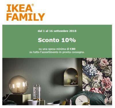 sconto ikea 10 con ikea family card. Black Bedroom Furniture Sets. Home Design Ideas