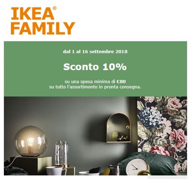 Sconto Ikea 10 Con Ikea Family Card Buonoscontoit
